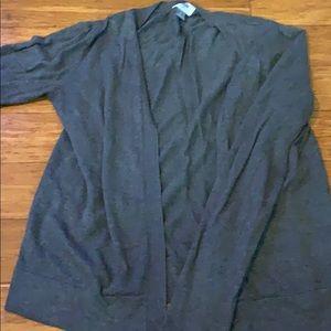 Charcoal gray cardigan